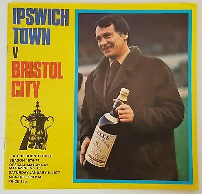 IPSWICH TOWN V BRISTOL CITY - F.A. CUP ROUND 3 - 8th JANUARY 1977