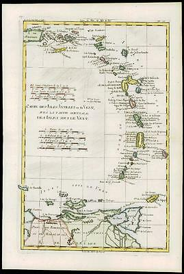 1780 Antique Map ANTILLES WEST INDIES Porto Rico St Croix Virgin by Bonne (13)