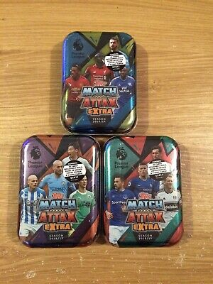 2018/19 Topps Match Attax Extra Premier League Trading Cards x3 Mini Tins