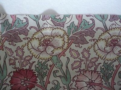 New William Morris Curtain Fabric Pink & Rose Design 5 Metres DK5200