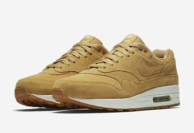 2018 Nike Air Max 1 Premium SZ 8 Flax Gum Medium Brown 875844-203