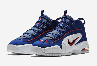 2018 Nike Air Max Penny I SZ 8.5 Deep Royal Blue Gym Red White  685153-400