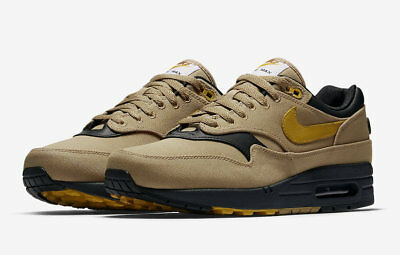 2018 Nike Air Max 1 Premium SZ 9.5 Elemental Gold Mineral Yellow 875844-700