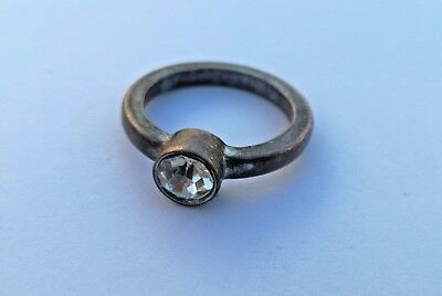 Rare Ancient Solid Ring Romane  bronze  Stunning Antique Rare Type with Stone