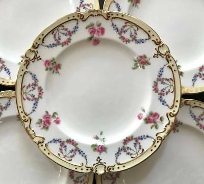 """(12) Antique Mintons for TIFFANY 8 1/4"""" Dessert Plates ~ Swags and Flowers"""