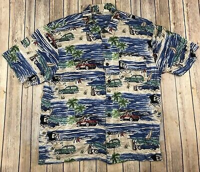 b0623a09 Vtg Disney Catalog Woody Surf Scene Minnie Mickey Mouse Hawaiian Shirt Mens  XL