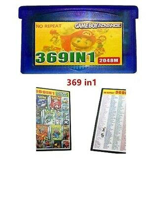 369 in 1 Games for Advance NDS GBA SP NDS Multicart Game Cartridge