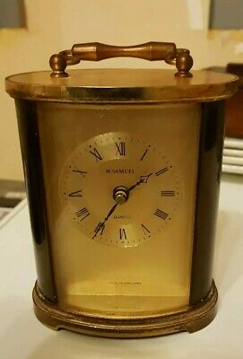 Carriage Clock* Vintage* Brass & Bronze Colour.12Cms High X 24 Cms Round