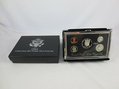 1992 United States Mint Permier 90% Silver Proof Coin Set in Box