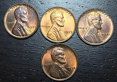 1939 1937 1938 1935 Lincoln Cent Wheat Penny  --  MAKE US AN OFFER!  #Y8330