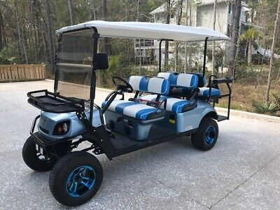 Golf Cart 2017 E Z Go L6 Express Gas Lsv 100 Mpg