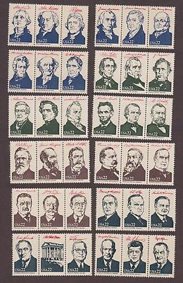 US,2216a-19i,36 PRESIDENTS,COMPLETE SET,1981 COLLECTION,MINT NH VF