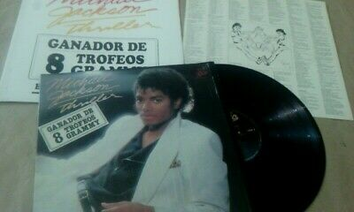 Michael Jackson-Thriller-LP Mexico Promotional Radio Unique Sleeve-PS Epic