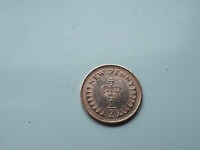 1979 New Half Penny Pence Coin British