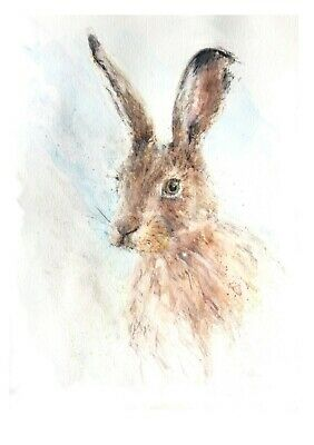 "Limited Signed Edition Print Of My Original Watercolour Painting ""Hare"""