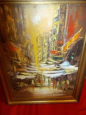 C W Lai Acrylic signed painting of Hong Long Framed