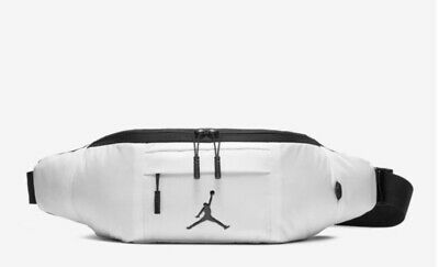 7477bab729df Nike Air Jordan Cross Body Fanny Pack Bag White Unisex Jumpman Bag 9A0092  001