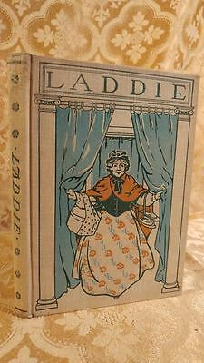 1903 Decorated Antique Book Laddie by Evelyn Whitaker Color Illustrations