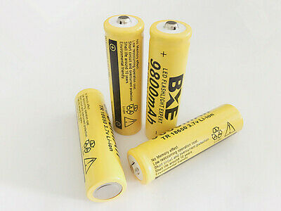4pcs 9800mAh 18650 Li-ion 3.7V Batteries For Flashlight Rechargeable Battery