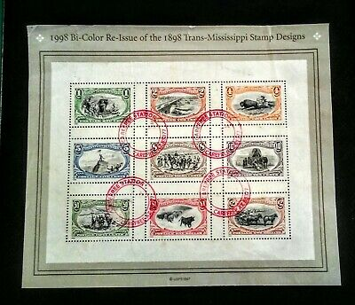 Us SC #3209 Re-Issue 1898 Trans Mississippi Sheet stamps