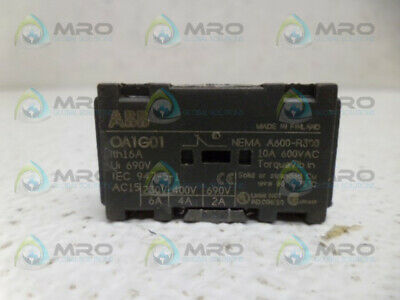 Abb Oa1G01 Auxiliary Contact *Used*