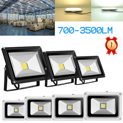 10W 20W 30W 50W LED Floodlight Tilting Outdoor Security Spotlight IP65 Cool/Warm