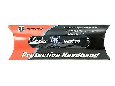 1x or lot of 9x Black FORCEFIELD Protective Headband Sweatband Soccer Volleyball