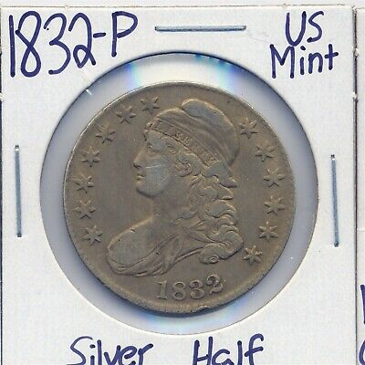 1832-P Capped Bust Silver Half US Mint Silver Coin Rare 90%