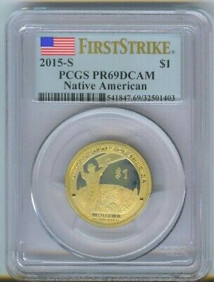 PCGS 2015-S First Strike PR69 DCAM Native American Dollar