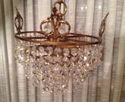 Antique Chandelier Wedding Cake Graduated Layers  - Ceiling Mount