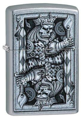 Zippo Windproof Steampunk King Of Spades Lighter, 29877, New In Box