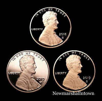 2018 2019 W+S+S Lincoln Shield Set West Point & San Francisco Mint Proof Coins