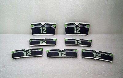 Starbucks Seattle Seahawks Jersey 12th Man NFL Beverage Sleeve ~ 7 Lot NEW