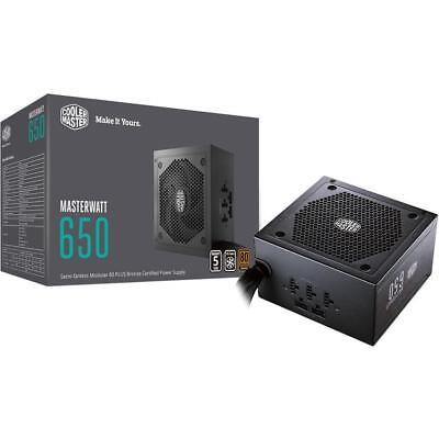 Cooler Master MasterWatt 650W 80 Plus Bronze Semi Modular ATX Power Supply PSU