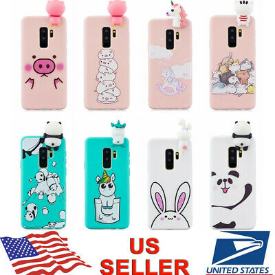 Samsung S10+ S10e S9+ A6/A8+ 2018 3D Cute Cartoon Silicone Ultra Thin Case Cover