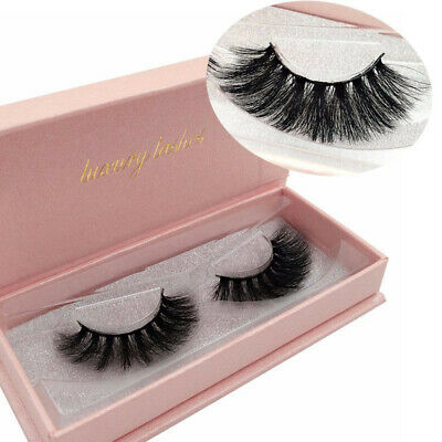 Top 3D 100% Luxury Mink Hair Soft Long Thick False Eyelashes Wispy Fluffy Style