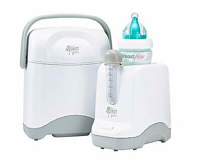The First Years Night & Day Bottle Warmer & Cooler, Gray/White -OPEN Box