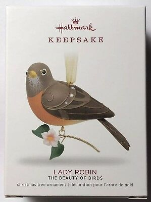 Hallmark Ornament 2018-LADY ROBIN-THE BEAUTY OF BIRDS-Limited Edition