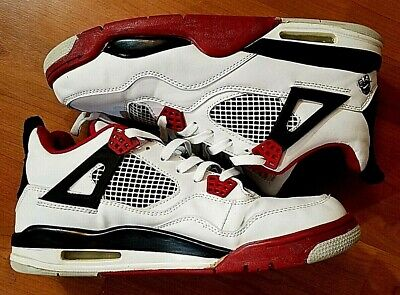 new concept e098f b4ec2 Nike Air Jordan 4 IV Mars Blackmon 09 Fire Red White 136013-161 Size US
