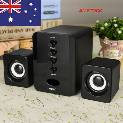 USB Wired Computer Speakers Stereo Bass Subwoofer for Desktop Laptop PC AU