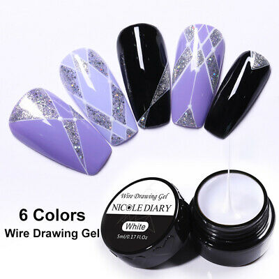 5ml NICOLE DIARY White Draw Painting Spider Gel Nail Polish Soak Off Nail Art