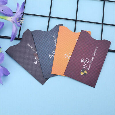5X Anti-theft RFID Blocking Sleeve Credit Card Protector Bank Card Holder Wallet