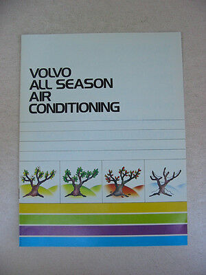 Volvo All Season Air Conditioning Brochure -Near Mint to Mint