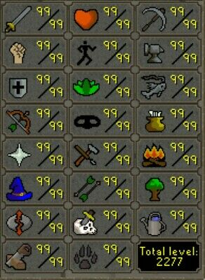 OSRS Completionist Account {2277TTL}{Infernal Cape}{Maxed POH}{Original Owner}