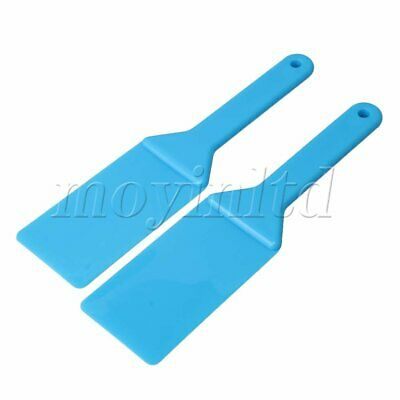 10.5x2.7x0.4inch Printing PlasticInk Spatulas Screen Accessory Set of 2 Blue