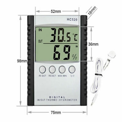 Wireless Temperature and Humidity Monitor Temp Monitor System Electronic sfd