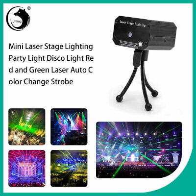 U`King Mini Laser Stage Lighting Red and Green Laser DJ Disco Party Dance Bar
