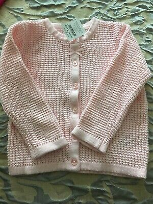 Pink Cardigan Baby Girl 9-12months New