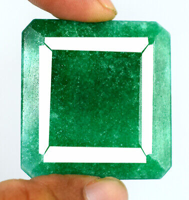 Green Emerald Loose Gemstone 197.00 Ct Brazilian Octagon Cut Natural Best Offer