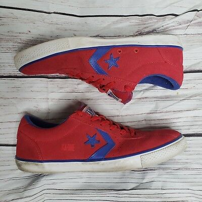 2bf108e6528c Converse KA-One Vulc Ox Unisex Shoes Blue   Red Leather Mens 9.5   Womens